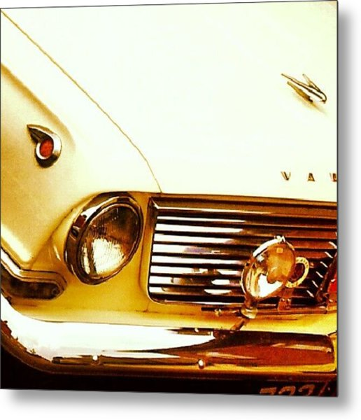 Vehicles - Beautiful Classic Car #white Metal Print
