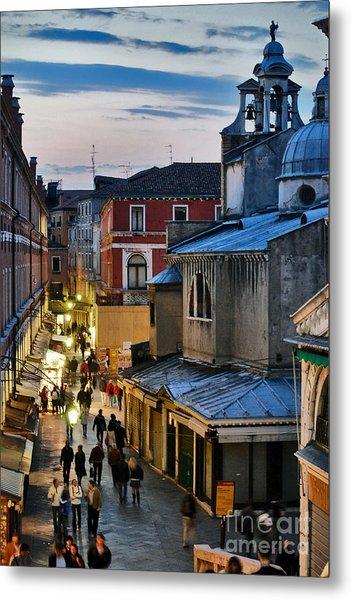 Venice From Ponte Di Rialto Metal Print