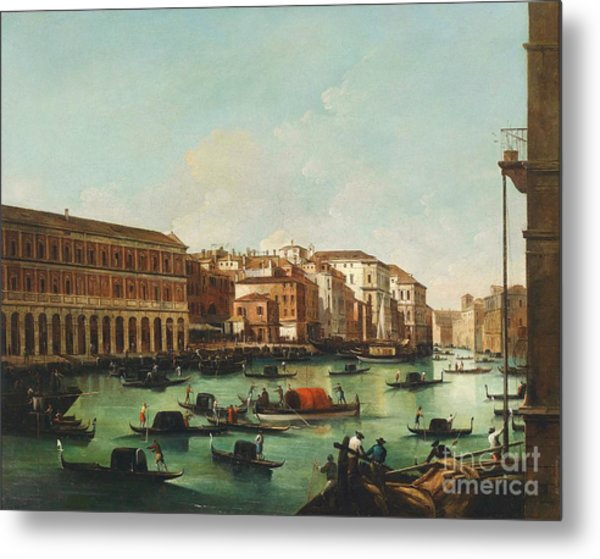 Venice Grand Canal Metal Print by Pg Reproductions