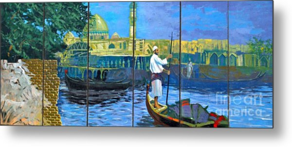 Venice Of The Middle East Metal Print by Unknown - Local Iraqi National
