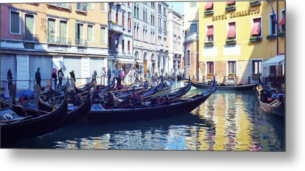 Venice Waiting  Metal Print