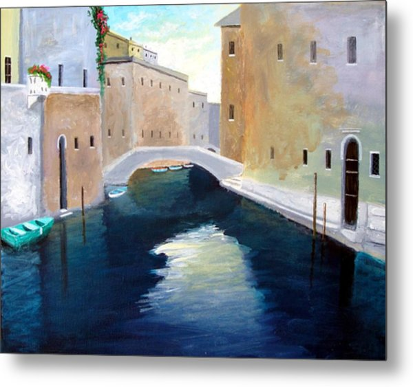 Venice Water Dance  Metal Print