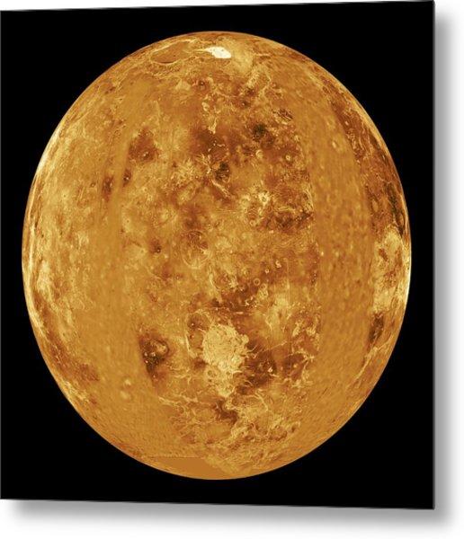 Venus, Radar Map Metal Print by Jplnasa