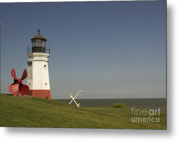 Vermilion Lighthouse - 1287 Metal Print by Chuck Smith
