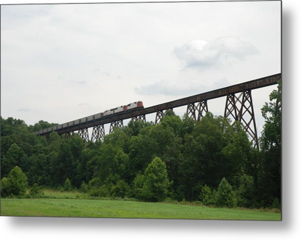 Viaduct Series-summer Metal Print by Cheryl Helms