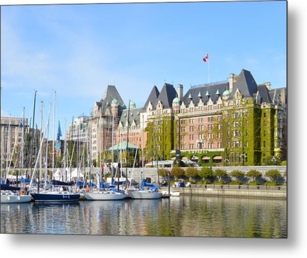 Victoria Vancouver Island Hotel Metal Print by Ann Marie Chaffin