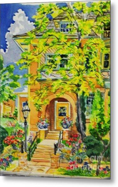 Victorian Sandstone Mansion Denver Colorado Metal Print by Annie Gibbons