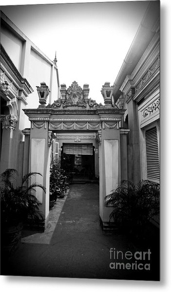 Vietnamese French Archway Metal Print