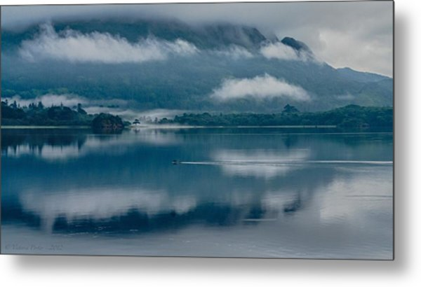 View At Sunset From The Lake Hotel In Killarney Ireland Metal Print