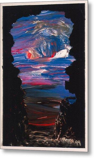 View From A Cave On Venus Metal Print by Rhetta Hughes