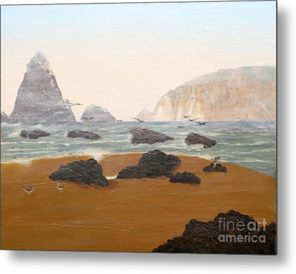 View From Luffenholtz Beach Metal Print