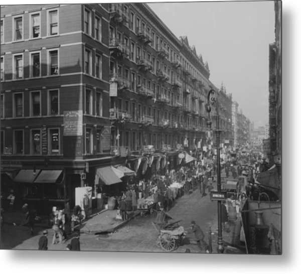 View From Rivington Street On New York Metal Print by Everett