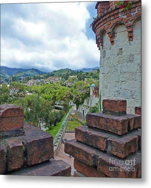 View From The City Walls - Loja - Ecuador Metal Print