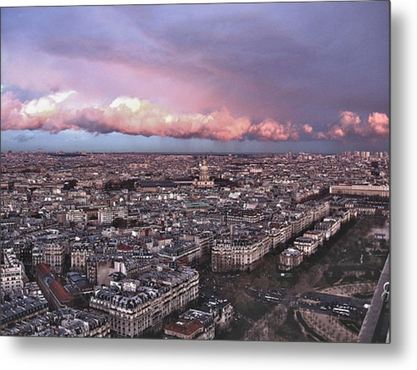 View From The Eiffel 2 Metal Print by David Ritsema