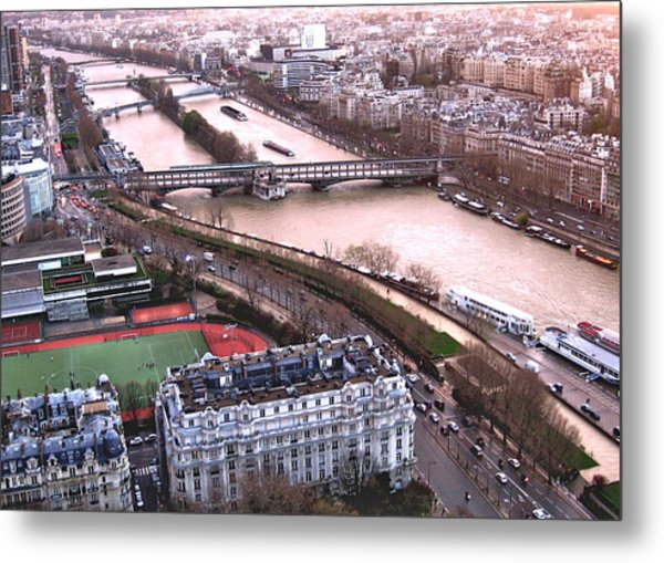 View From The Eiffel Metal Print by David Ritsema