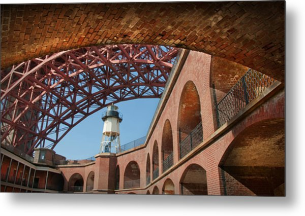 View From Under The Arch Metal Print by Kent Sorensen