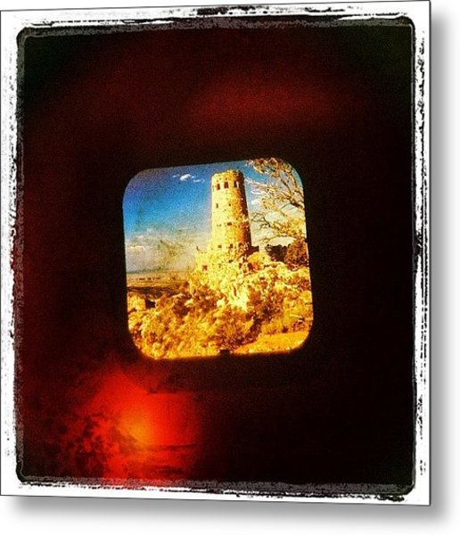 View-master Grand Canyon Watchtower Metal Print