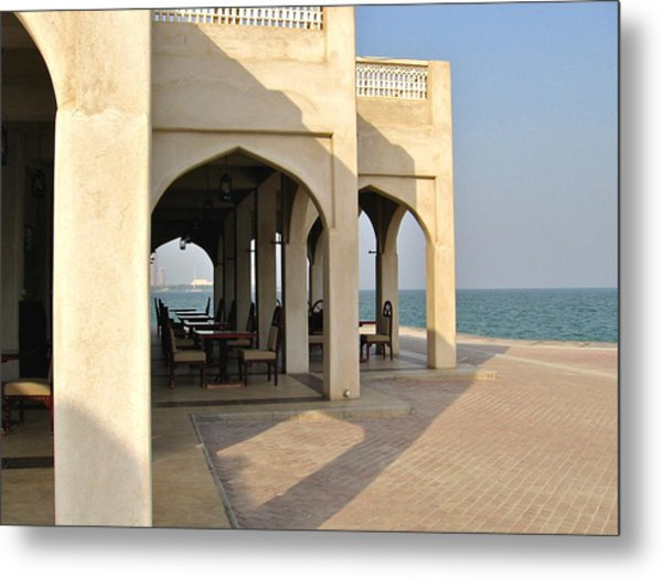 View Of Al Bandar At Doha Corniche Metal Print by David Ritsema
