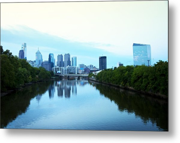 View Of Center City Philadelphia From The Schuylkill River Metal Print