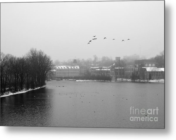 View Of The Mills Metal Print