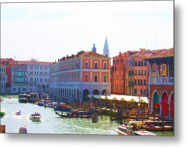 View Of Venice's Market Metal Print