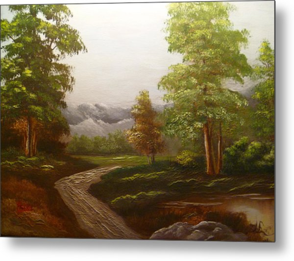 View To The Mountains Metal Print by Marie Dulny