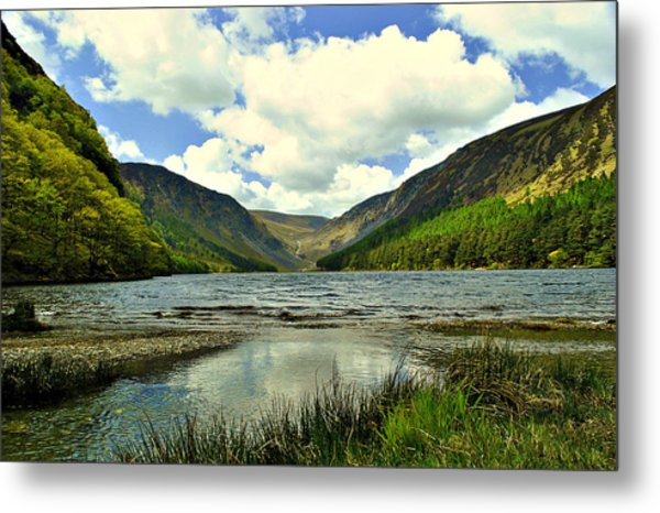 View With A V Metal Print