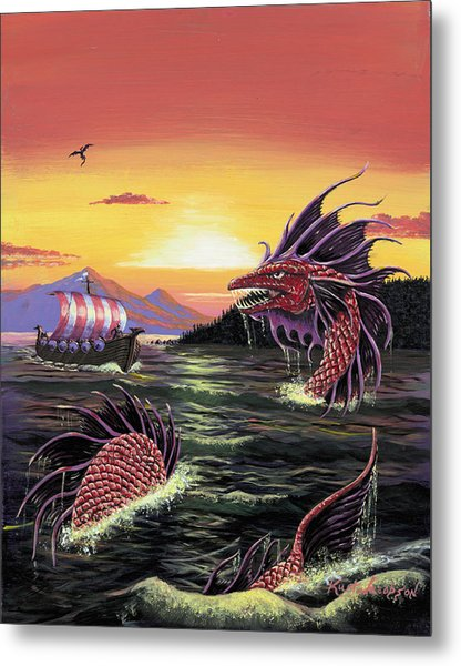 Viking Quest Metal Print