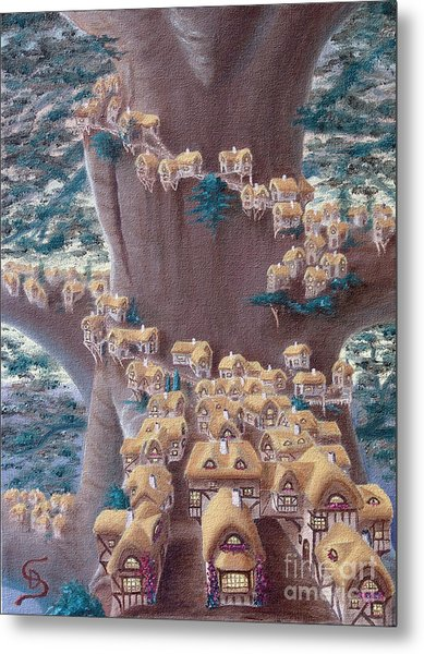 Village In A Tree From Arboregal Metal Print