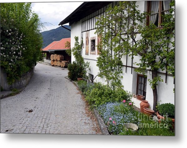Village In Tyrol Metal Print