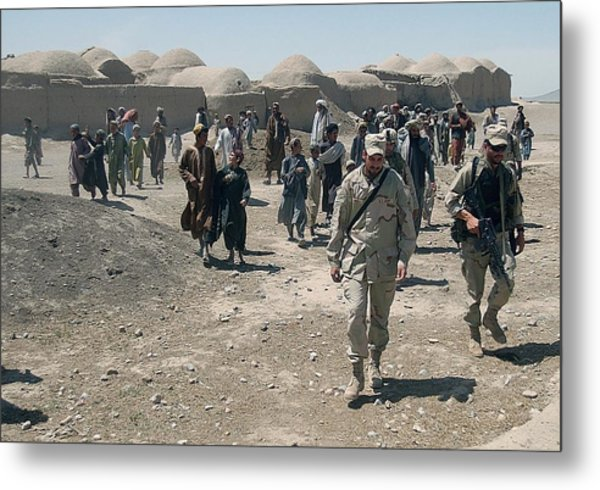 Villagers From Nojoy Outside Kandahar Metal Print by Everett