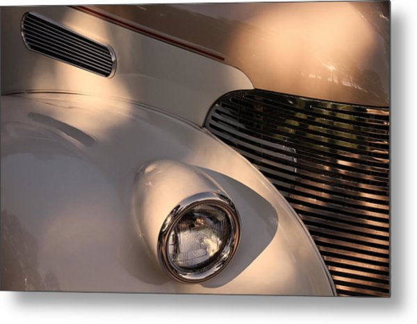Vintage Chevy Grill Metal Print by Tony Grider