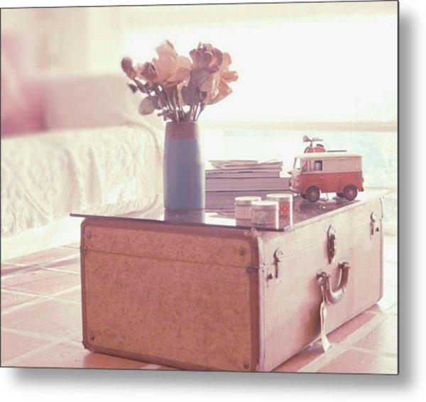 Vintage Suitcase Metal Print by Carmen Moreno Photography