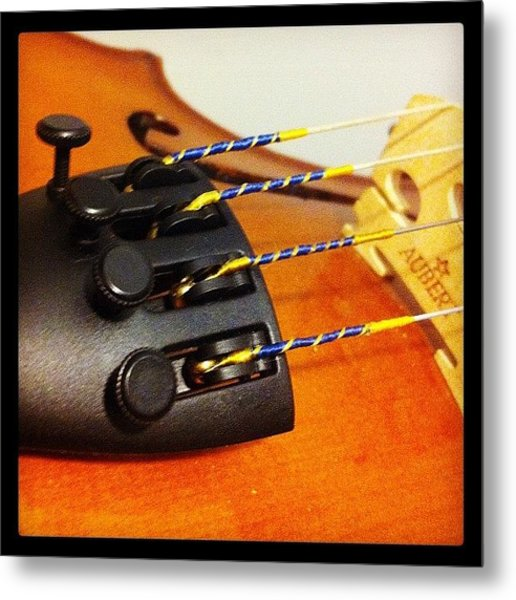 #viola #violin #instrument #orchestra Metal Print