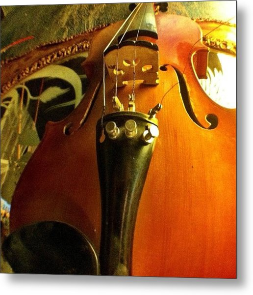 #violin #viola #music #art Metal Print