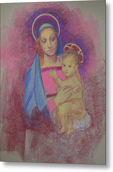 Virgin Mary With Baby Jesus Metal Print