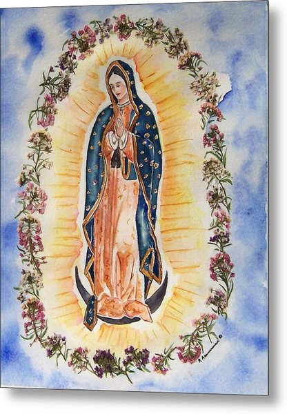 Virgin Of Guadalupe Metal Print by Regina Ammerman
