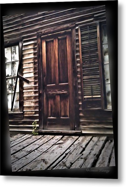 Virginia City Ghost Town Door I Metal Print