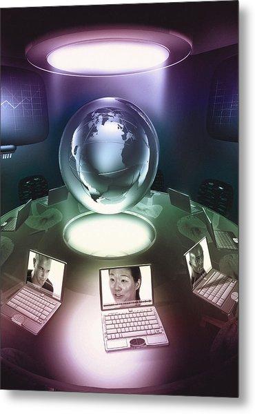 Virtual Office Metal Print by Coneyl Jay
