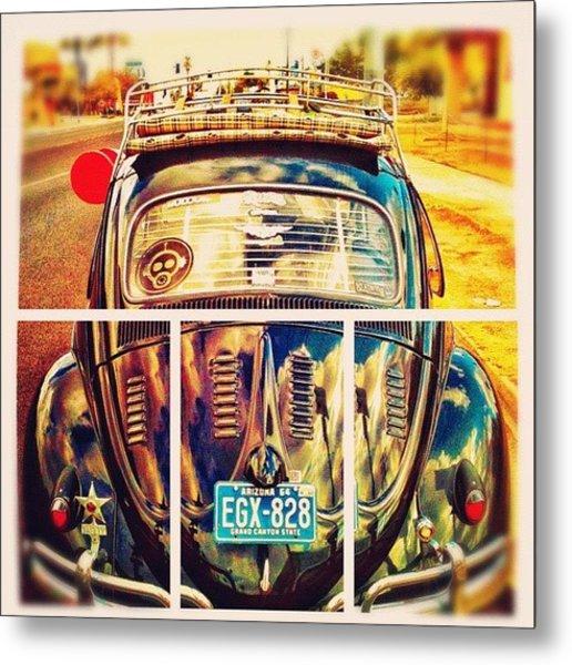 #volkswagen #bug #beetle #ragtop Metal Print