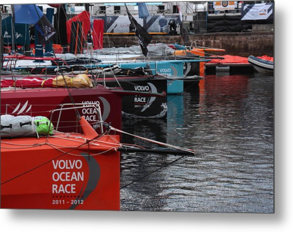 Volvo Ocean Race 2011-2012 Metal Print by Peter Skelton