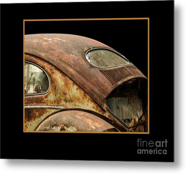 Vw Rust Bug Metal Print