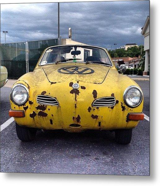 #vw #volkswagen Karmann Ghia #cars Metal Print