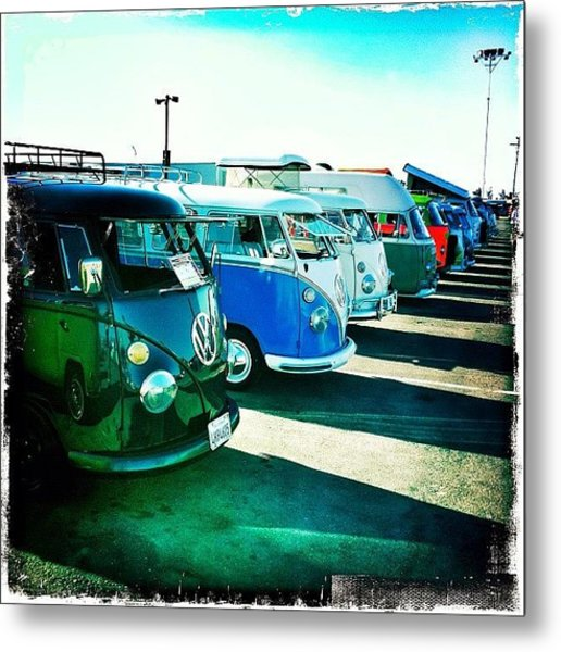 #vw #volkswagon #bus #buses Metal Print