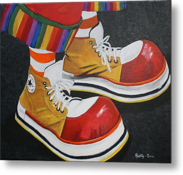 Waffle's Shoes Metal Print