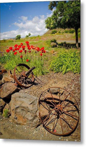 Wagon Wheels Metal Print by Jen TenBarge