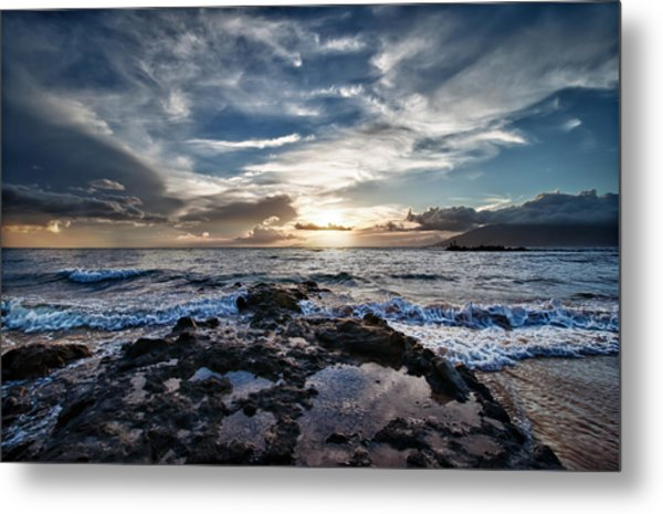 Metal Print featuring the photograph Wailea Sunset by John Maffei