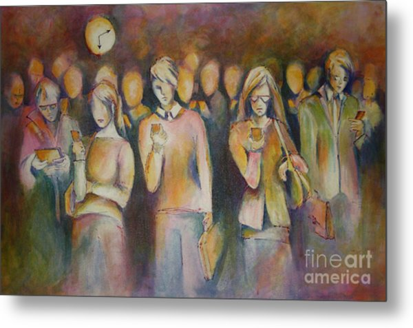 Waiting For The 6 15 Train Metal Print by Sandra Taylor-Hedges