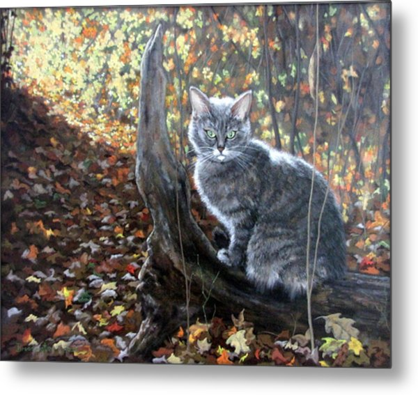 Waiting In The Woods Metal Print