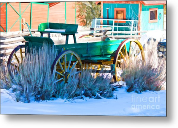 Waiting Wagon Metal Print